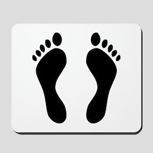footprints barefoot Mousepad