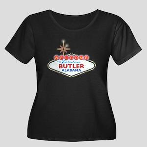Fabulous Butler Women's Plus Size Scoop Neck Dark