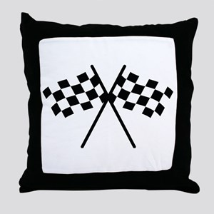 checker flag autorace Throw Pillow