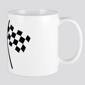 checker flag autorace Mug