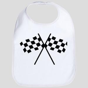 checker flag autorace Bib