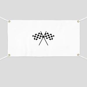 checker flag autorace Banner