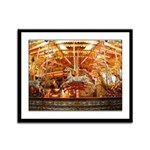Carousel Framed Panel Print