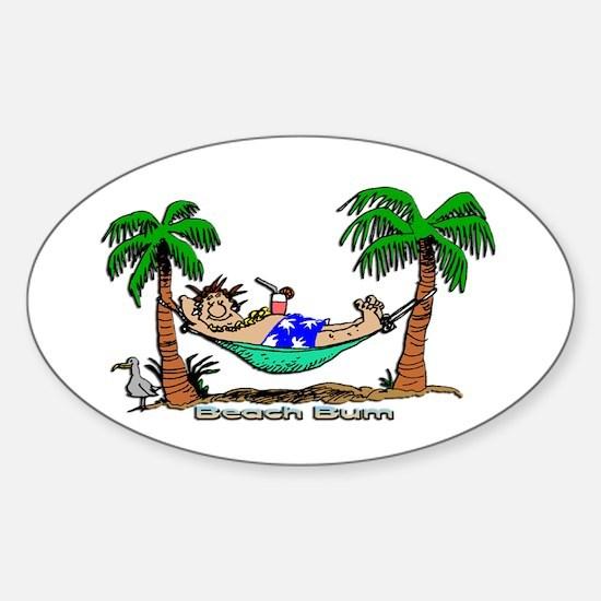 Beach Bum Oval Decal