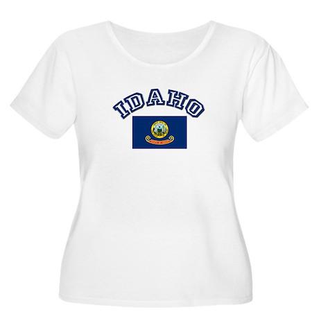Idaho State Flag Women's Plus Size Scoop Neck T-Sh