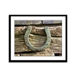 Horseshoe Framed Panel Print
