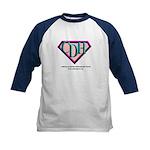 CDH Superhero Logo for Girls Kids Baseball Jersey