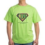 CDH Superhero Logo for Girls Green T-Shirt