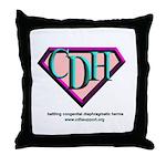 CDH Superhero Logo for Girls Throw Pillow