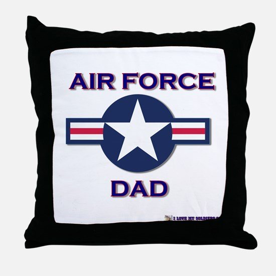 air force dad Throw Pillow