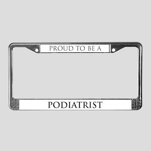 Proud Podiatrist License Plate Frame