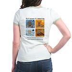 4 Seasons of Chained Dog Jr. Ringer T-Shirt