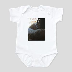 White Donkey Infant Bodysuit
