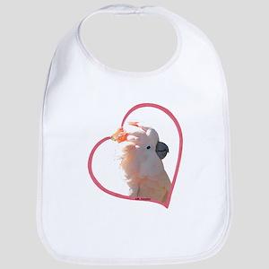 M Cockatoo Heart Line Bib