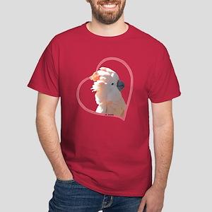 M Cockatoo Heart Line Dark T-Shirt