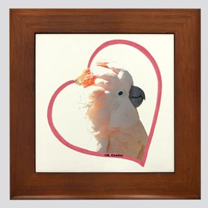 M Cockatoo Heart Line Framed Tile