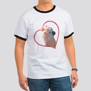M Cockatoo Heart Line Ringer T