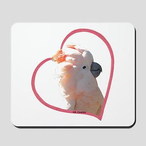 M Cockatoo Heart Line Mousepad