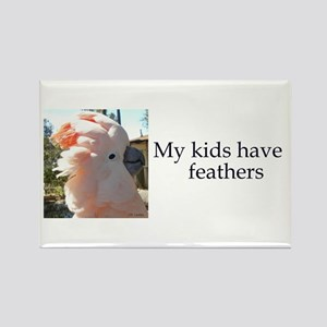 My kids have feathers Rectangle Magnet