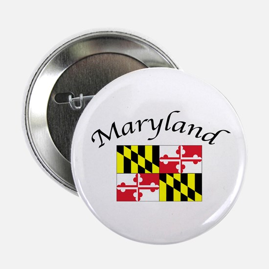 """Maryland State Flag 2.25"""" Button"""
