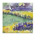 Watercolor Spring Garden Tile Coaster