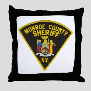 Monroe County Sheriff Throw Pillow