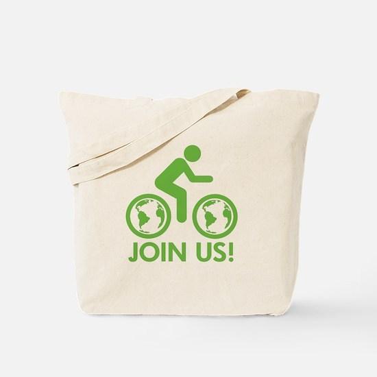 Bike Biofuel Green Tote Bag