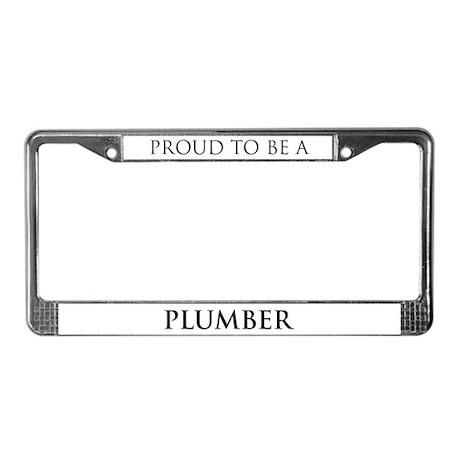 Proud Plumber License Plate Frame