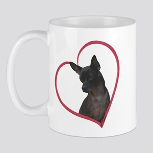 Blk Chi Heart Mug
