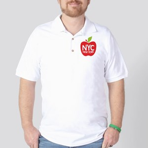 Big Apple Green NYC Golf Shirt