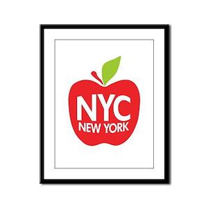 Big Apple Green NYC Framed Panel Print