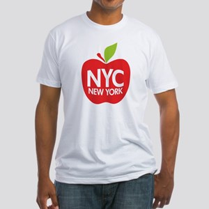Big Apple Green NYC Fitted T-Shirt