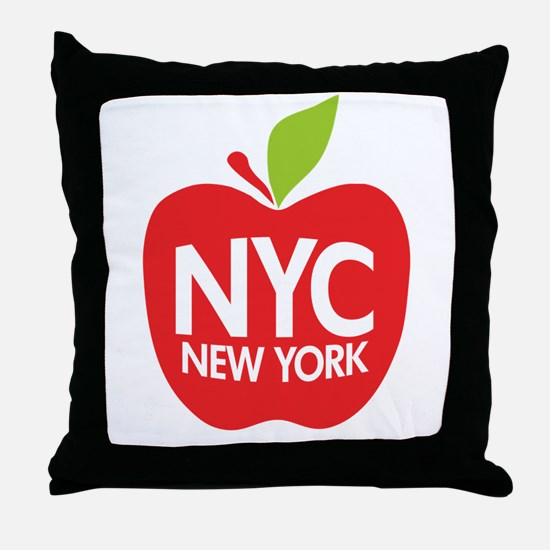 Big Apple Green NYC Throw Pillow