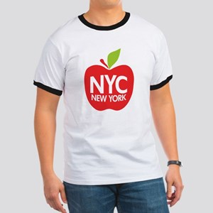 Big Apple Green NYC Ringer T