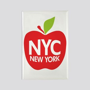 Big Apple Green NYC Rectangle Magnet