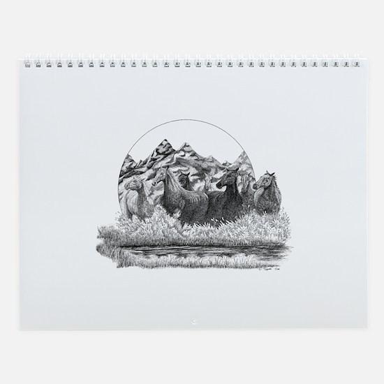 Mustangs Wall Calendar