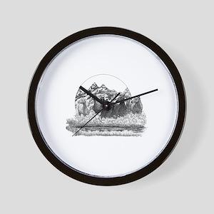 Mustangs Wall Clock