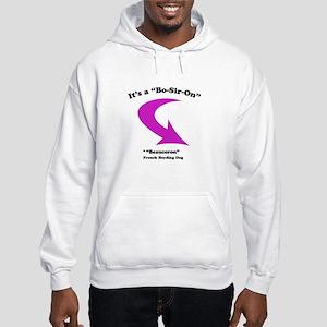 Bo-Sir-On, pink Hooded Sweatshirt