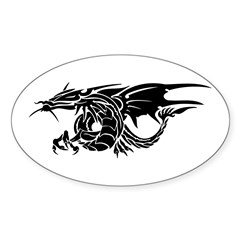 Dragons Oval Sticker (10 pk)