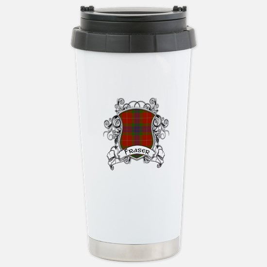 Fraser Tartan Shield Stainless Steel Travel Mug