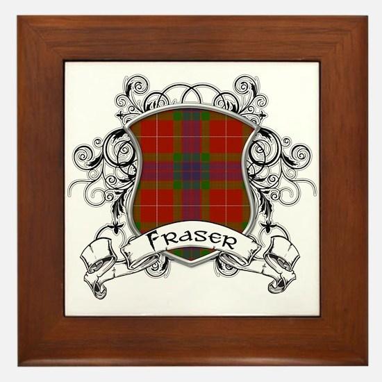 Fraser Tartan Shield Framed Tile