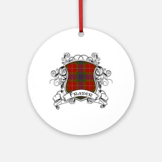 Fraser Tartan Shield Ornament (Round)