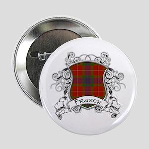 """Fraser Tartan Shield 2.25"""" Button"""