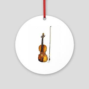 Fiddle Ornament (Round)