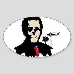 President Banksy Style Oval Sticker