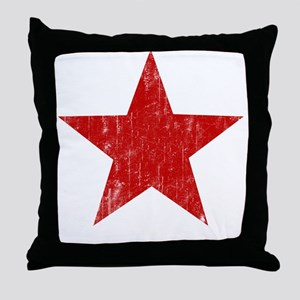 Punk Star Red Throw Pillow