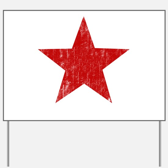 Punk Star Red Yard Sign