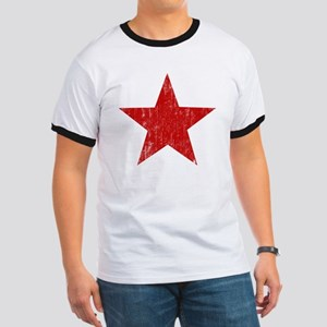 Punk Star Red Ringer T