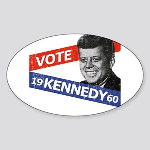 Retro Kennedy 1960 Oval Sticker