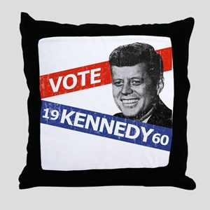Retro Kennedy 1960 Throw Pillow